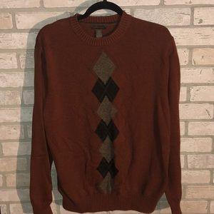 Men's Xl Dockers burnt orange argyle sweater.